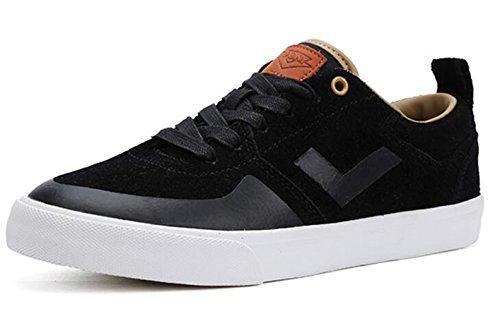 Pony Skate Shoes Men's Black Casual Athletic Shoes (US 9, ()