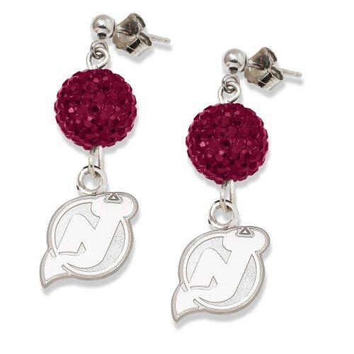 Nj Devils Earring (NHL New Jersey Devils LogoArt Ovation Earrings)