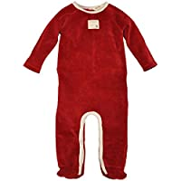 Burt's Bees Baby Unisex Baby Velour Union Suit Coverall -Cranberry-Newborn