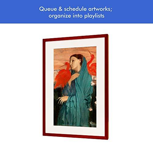 Canvia - Digital Art Canvas & Smart Digital Frame| 11AC WiFi | 16GB| 27x18in Frame| Adv Full-HD Display| Powered by ArtSense| 1 Year Membership Subscription to Premium Art & Photography Library