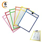 6 Pack Dry Erase Pocket Sleeves 10''14'' Reusable Ideal For Teacher Lessons in a Classroom Math Manipulatives And Perfect for Home Office