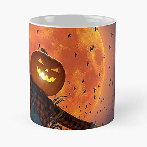 Halloween October 2018 Afraid - 11 Oz Coffee Mugs Unique Ceramic Novelty Cup, The Best Gift For Halloween.