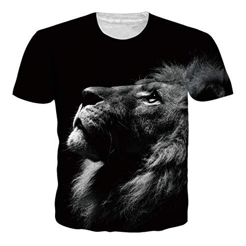 RAISEVERN Summer Mens Funky Muscel Tshirt Round Neck Casual 3D Hip-hop Short Sleeve …