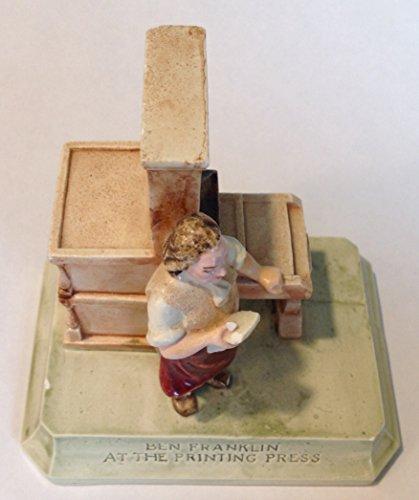 Sebastian Miniatures Figurine # 6218 Ben Franklin At The Printing Press