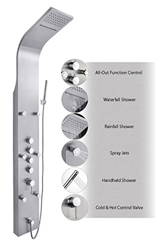 "AKDY JX-9821 AZ-9821 65"" Stainless Steel Rain Waterfall, ..."