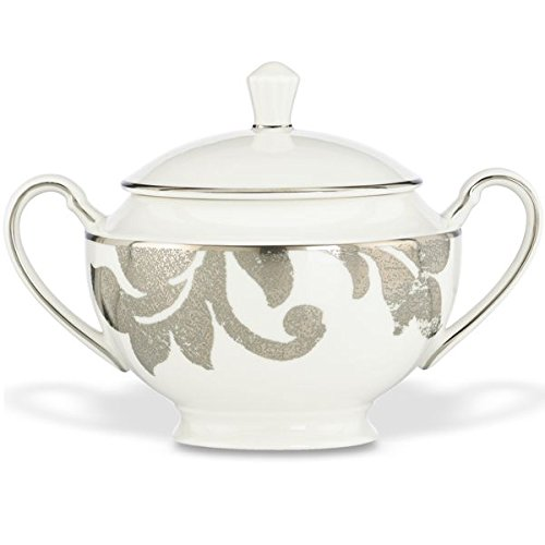 (Lenox Silver Applique Sugar Bowl with Lid)