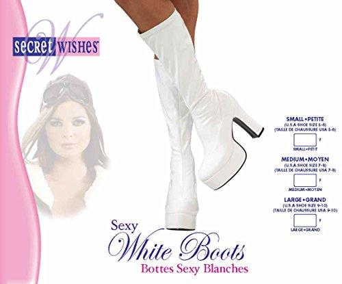 nbsp;7 nbsp;A sexy mediano caña blanco de nbsp;Disfraz nbsp;– de s nbsp;– adulto alta tamaño para Rubies botas oficial 6 qBFZaxw