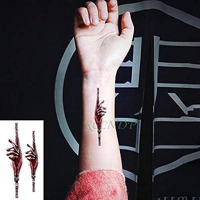 ljmljm 5 Piezas Pegatinas de Tatuaje a Prueba de Agua Calavera ...