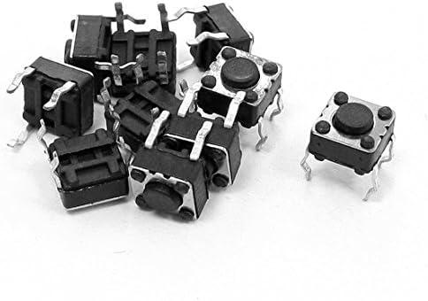 タクトスイッチ PCBモーメンタリ触覚タクトプッシュボタンスイッチ   4ピンDIP 6x6x4.5mm 10個入り