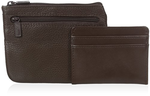 Brown Leather Buxton - Buxton Women's Large Id Coin/Card Case, Chocolate Brown One Size