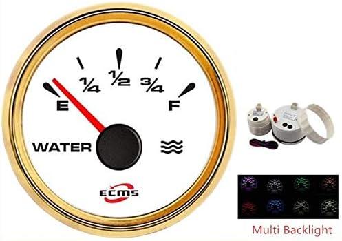 WY-WY 52ミリメートル液体の水タンクのレベルゲージメーターバックライト12 / 24V車のトラックのボートのために