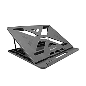 Amkette Ergo View Laptop Stand with 7 Adjustment Levels for laptops up to 15.6 inches (12 inch /13 inch /14.1 inch /15.6 inch) (Grey)