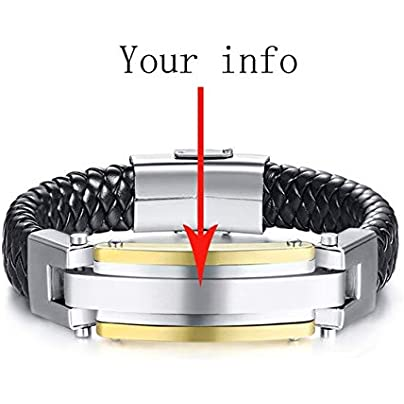 ZUOZUO Leather Wristband Stainless Steel Leather Bracelet Men S And Women S Accessories Bracelet Couple Jewelry Estimated Price £31.99 -