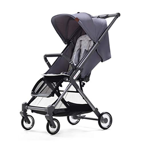 - BAAYy-stroller Outdoor Pushchair, Lightweight Visible Rear Window Five-Point Seat Belt Baby Carriage, 6.8kg YEC-529 (Color : Gray)
