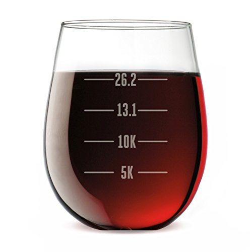Gone For a Run Running Stemless Wine Glass Runner's Measurements (Wine And Running compare prices)
