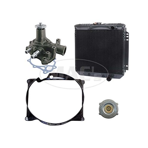 MACs Auto Parts 41-83335 66/69 Fairlane/Ranchero Cooling Kit (3 Row-351 AC) 20 In Rad