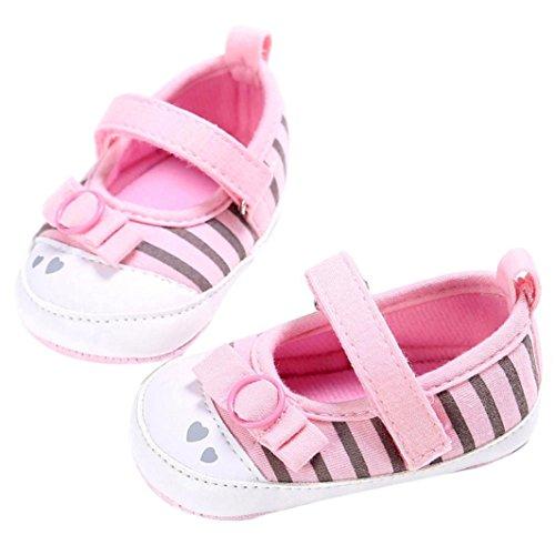 weichen 6 Pink Monate Krippe Hot Schuhe Sohle Kinder Alter Baby Kleinkind 0 Kleinkind Pricess Hunpta Neugeborenes ~ Rosa Mädchen x4qY6IwZ