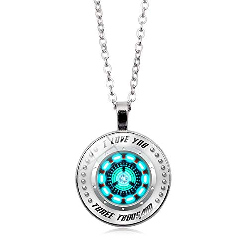 PIESWEETY I Love You Three Thousand 3000 Circle Necklace, Tony Stark Arc Reactor - Luxury Necklace!