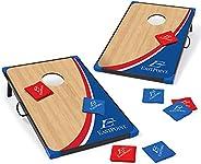 EastPoint Sports Cornhole Game Set Bean Bag Toss MDF - 2' W x 3' L - Built-in Storage, Convenient Carr