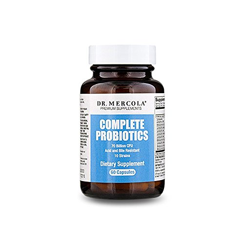 Dr. Mercola Complete Probiotics 60 Capsules – 30 Servings – Twice Daily Probiotic Supplement – 70 Billion CFU – Acid & Bile Resistant – Promotes Digestive Health and Supports Immune System Review
