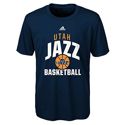 fan products of NBA Rep Big Performance Short Sleeve Tee-Navy-M(10-12), Utah Jazz