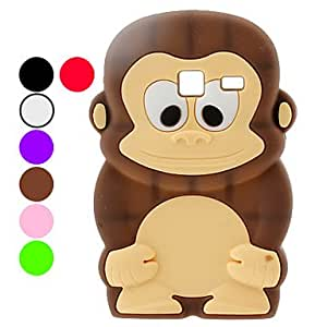 HP Protective Monkey Pattern Soft TPU Case for Samsung S6102 (Assorted Colors) , Green