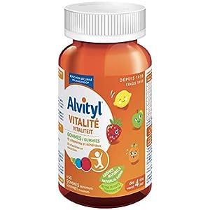 Alvityl Vitalité Gommes, arômes naturels de fruit – 10 Vitamines & minéraux – Dès 4 ans – 60 gommes