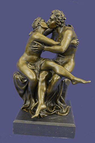…Handmade…European Bronze Sculpture Large Museum Quality Kiss By Milo Art Deco Marble Sale (1X-YRD-536) Bronze Sculpture Statues Figurine Nude Off…