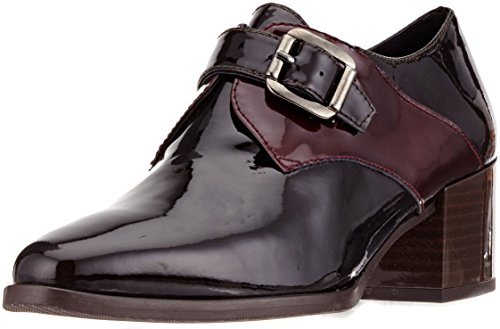 Laura Moretti Donna Oxford Scarpe Lorena Brown-bordo