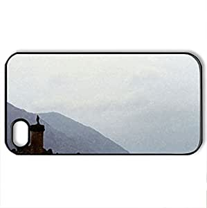 Glenfinnan Monument - Case Cover for iPhone 4 and 4s (Monuments Series, Watercolor style, Black)