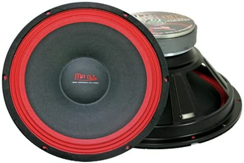 Mr. Dj PA118 Subwoofer, Black Red