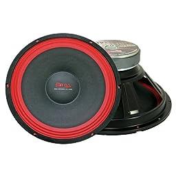 Mr. Dj PA118 Subwoofer, Black/Red