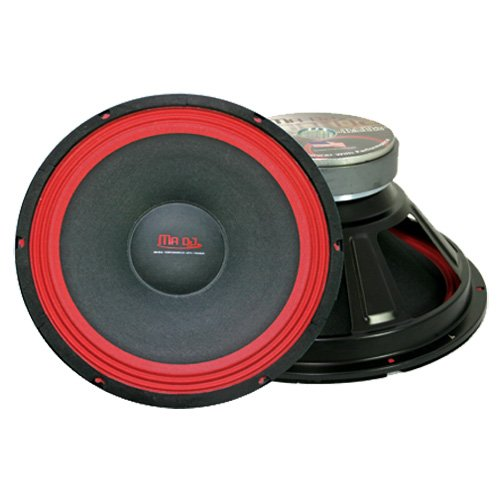 Mr. Dj PA118 Subwoofer, Black/Red (Red Cone Pyle Sub compare prices)