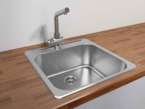Cantrio KSS-2020 Stainless Steel Undermount Kitchen Sink, 20.5 x 20-Inch
