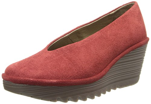 FLY London Women's Yaz Wedge Pump Red discount authentic online free shipping find great sale outlet RMKkZkJf