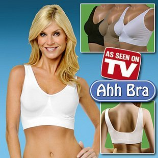 Ahh Bra Set of 3 (One Nude One Black one White) - Medium *As Seen On TV