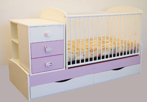 Kinderbett Babybett 170x70 Cm Wiege Inkl Wickelkommode Und