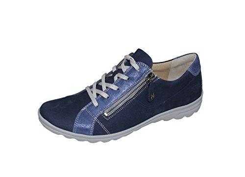 Damen Sneaker HARTJES 69862-24 blau Leder Wechselfußbett 37,5 38 38,5 39 40 Blau