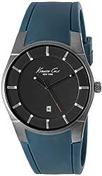 Kenneth Cole New York Men's 10027724 Slim Analog Display Japanese Quartz Blue Watch