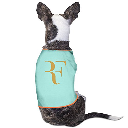 [GDFEH Roger Federer Logo Daily Pet Dog Clothes T-shirt Coat Pet Puppy Dog Apparel Costumes New SkyBlue] (Gentlemen Broncos Costume)