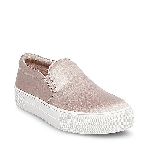 Steve Madden Kvinna Giles Satin Slip På Mode Sneakers Rosa Satin