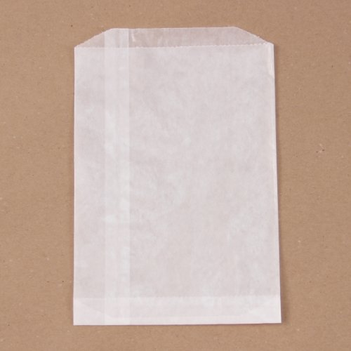 Brand New Glassine Flat Bag 5-1/2'' X 7-3/4'' 100/Pkg- by Wax Party Bags