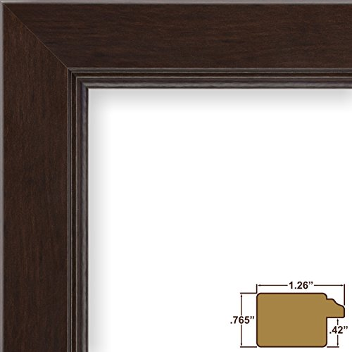 Craig Frames 61999CO 11 by 14-Inch Picture Frame, Smooth Wrap Finish, 1.26-Inch Wide, Dark Brown