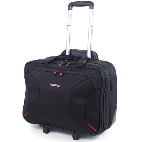 Alpine Swiss Rolling Briefcase on Wheels Roller 17 Laptop Case W Tablet Sleeve