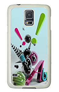 Samsung Galaxy S5 Cheap price cover Abstract Art Color 03 PC White Custom Samsung Galaxy S5 Case Cover
