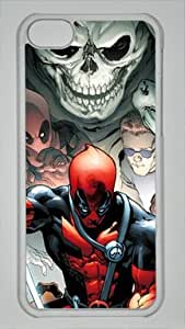 Game and Comics Deadpool Custom PC Transparent Case for iPhone 5C by icasepersonalized