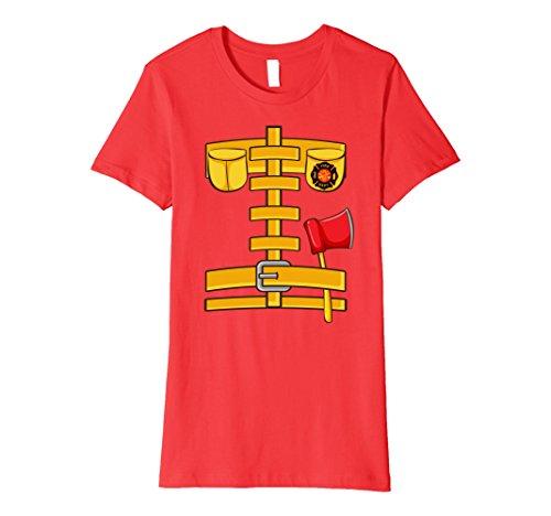 Womens Fireman Uniform Firefighter Costume Shirt | Halloween Gift XL (Woman Fireman Halloween Costume)