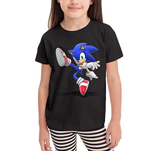 MountGet Sonic The Hedgehog Children's 2-6 Age Short Sleeve T-Shirts 4T Black]()