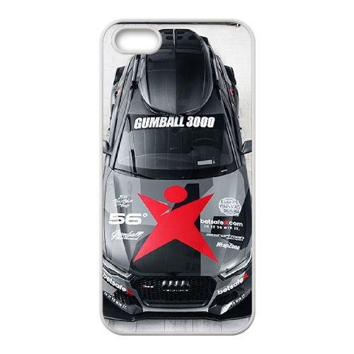 Audi coque iPhone 5 5S Housse Blanc téléphone portable couverture de cas coque EBDOBCKCO13600