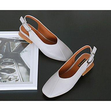 LvYuan Tacón Robusto-Confort-Sandalias-Exterior-PU-Negro Gris gray